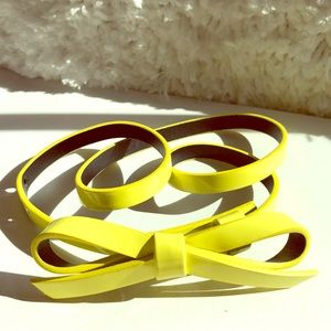 Accessories - Pretty yellow bow belt